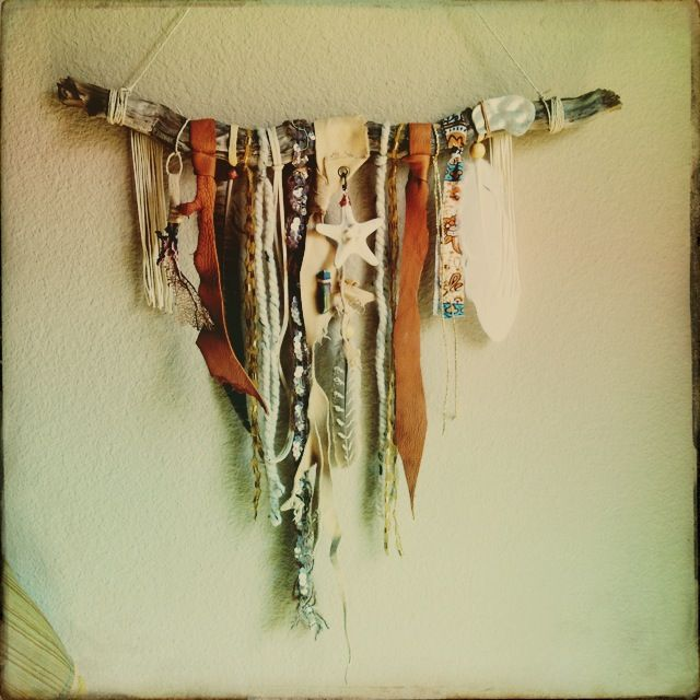 Home Decor Leather Scraps Earthy And Feathers