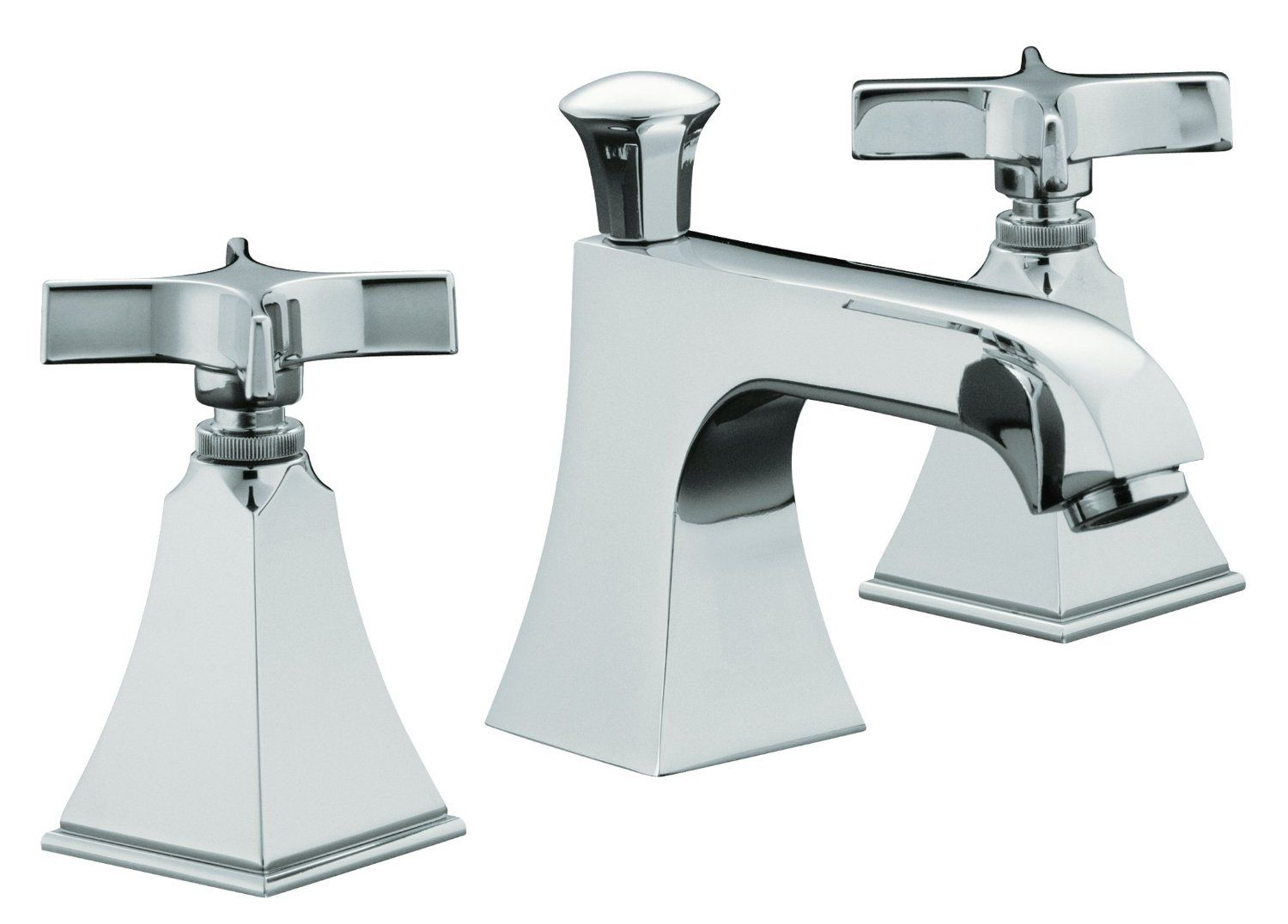 KOHLER K-454-3S-CP Memoirs Widespread Lavatory Faucet with Stately ...