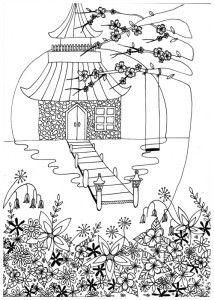 kleurplaten volwassenen tuin