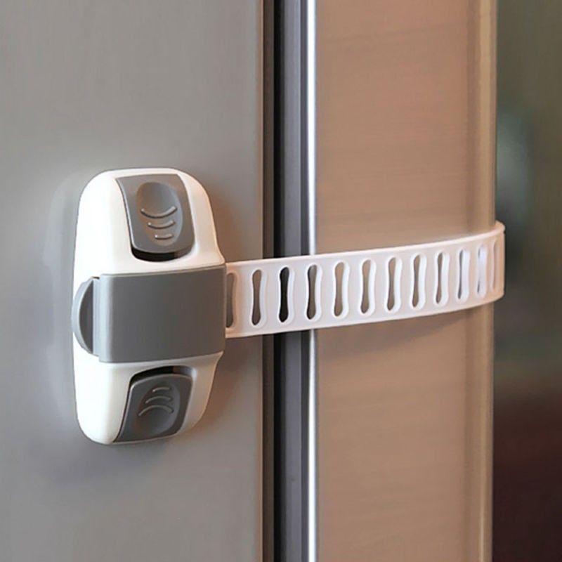 Adjustable fridge guard refrigerator door latch baby