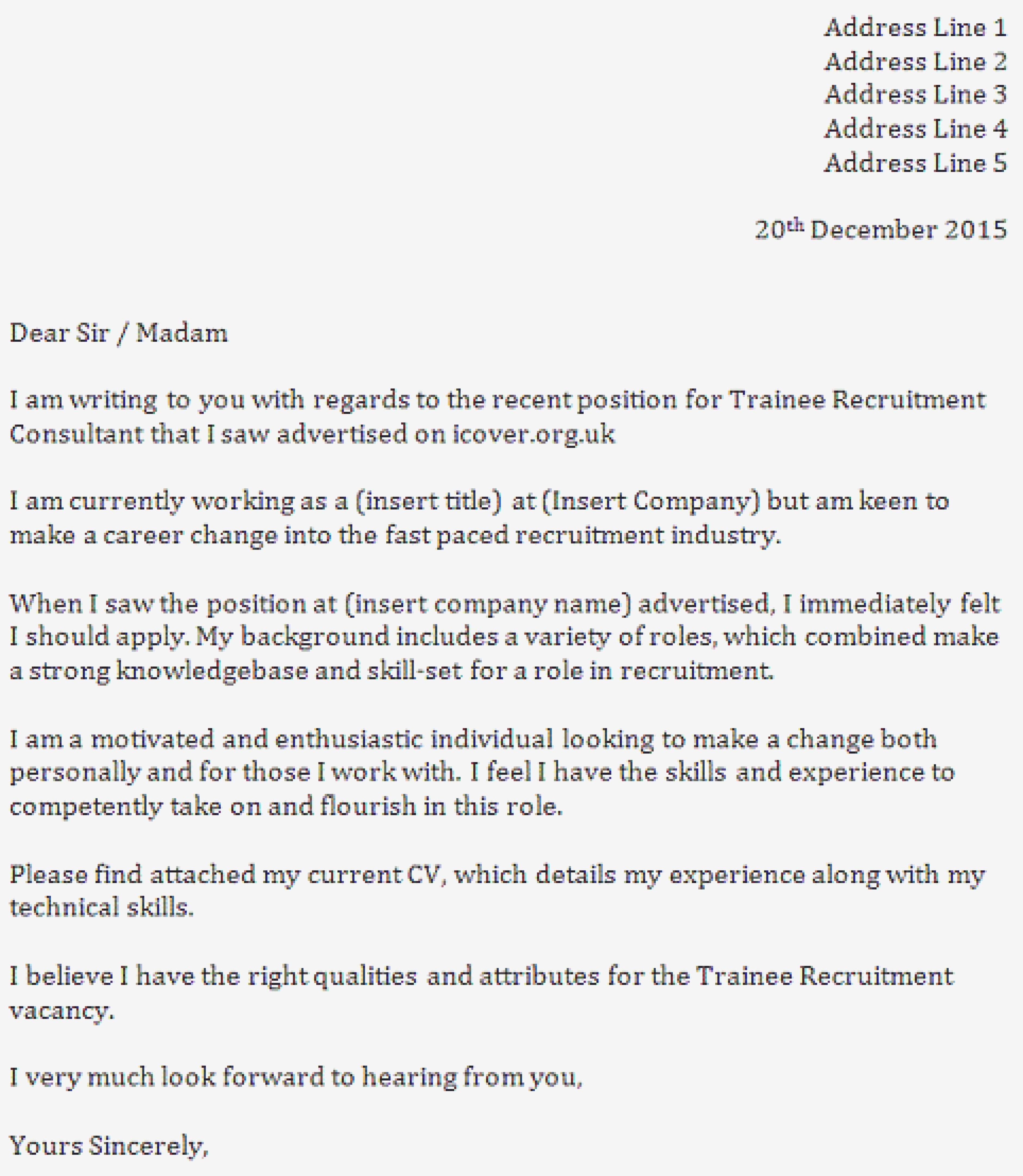 Download Unique Writing A Covering Letter For A Job Lettersample