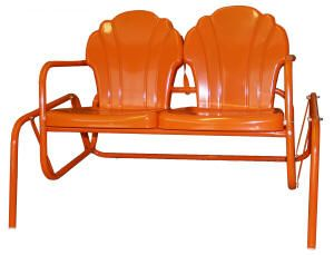 Parklane Double Glider Retro Metal Furniture From Torrans Manufacturing  Company Jefferson Texas