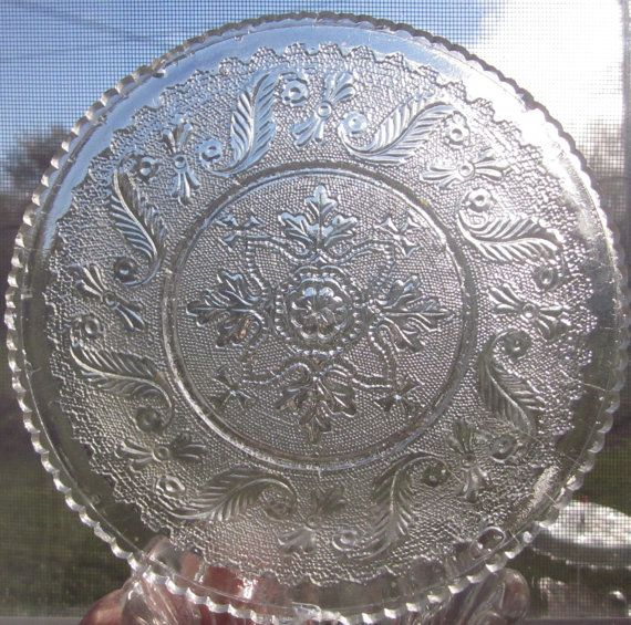 Welcome, offering Antique Boston & Sandwich Hamilton Pattern 1-1/8 high by  6.5 wide This is used antique with chippy and 2 chips scallops. being sold  AS IS ...