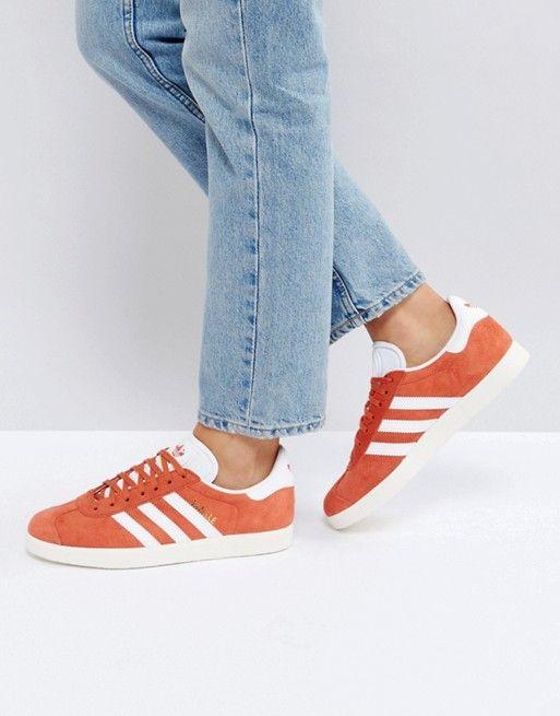 low priced 39095 fbb95 Sneakers Adidas Originals - Gazelle - Baskets - Orange  promotion