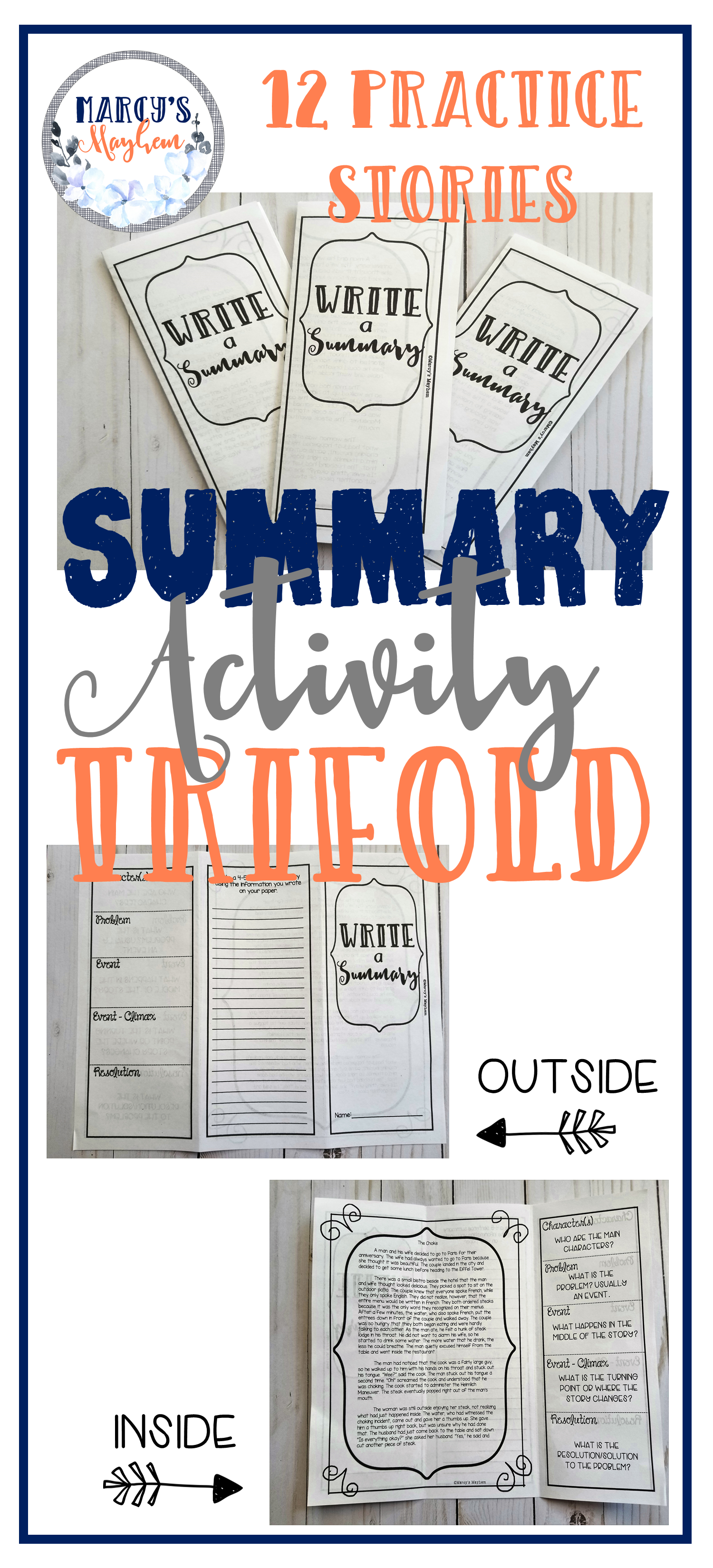 Summary Activities For 4th Grade Amp 5th Retelling Story