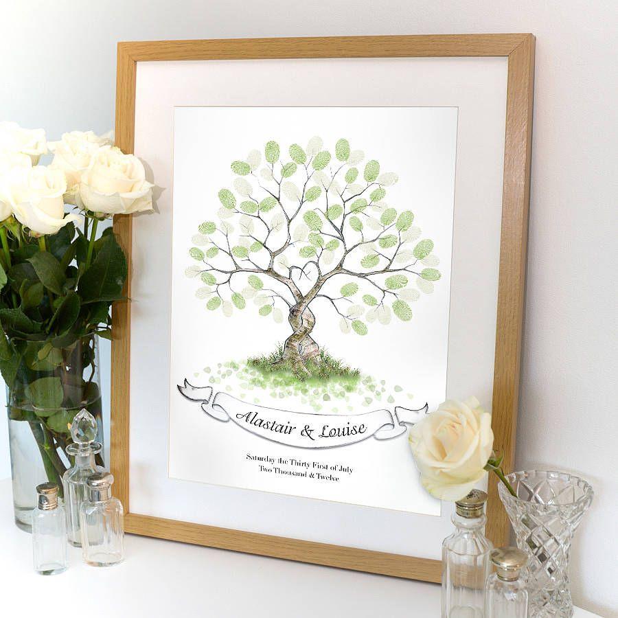 entwined fingerprint tree guest book