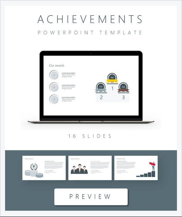 Achievements PowerPoint Flat Template PowerPoint Templates