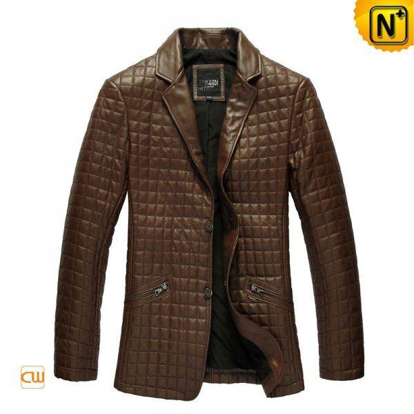 Italian Blazer Quilted Leather Jacket Mens Men CW880071 xzqXEdwU