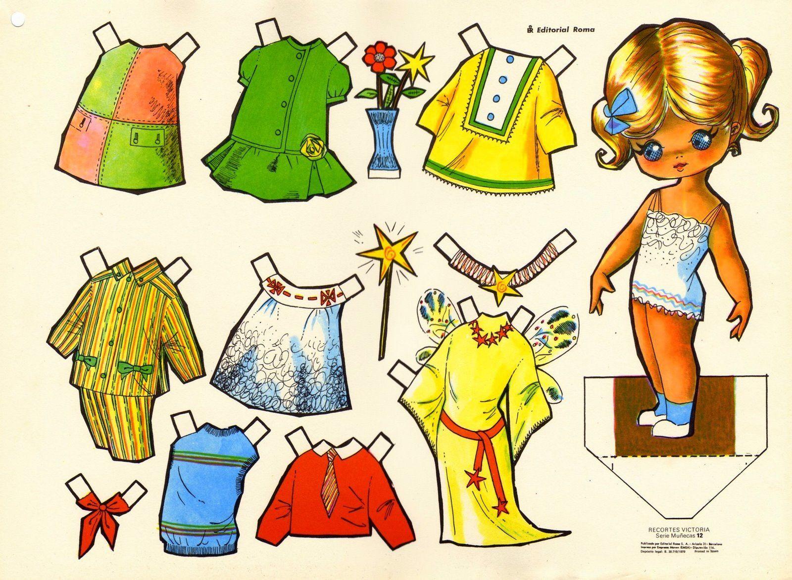 Recortables De Muñecas Para Vestir Dibujos Para Recortar Y