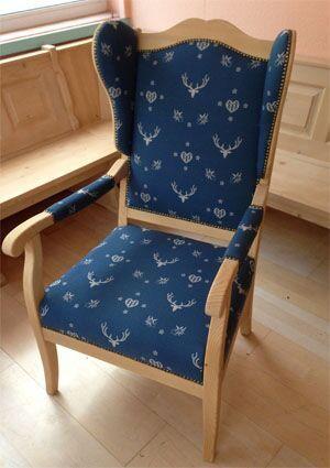 Sessel inzell rosner gewachst stoff af 74855 3 mit armlehnenpolster wohnzimmer im - Landhausmobel bayern ...