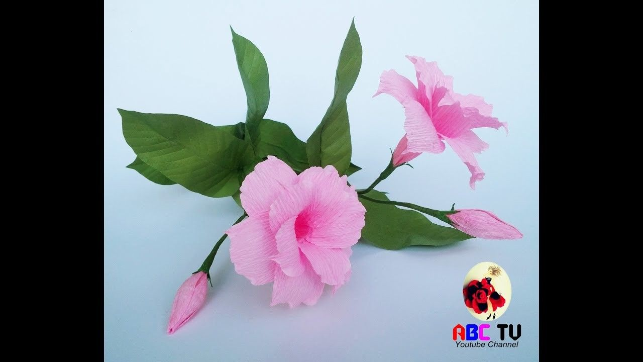 How to make mandevilla double flowers from crepe paper craft how to make mandevilla double flowers from crepe paper craft tutorial mightylinksfo
