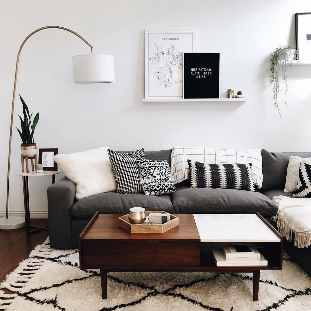 Lauren Scotti Modern Living Room Small Apartment Living