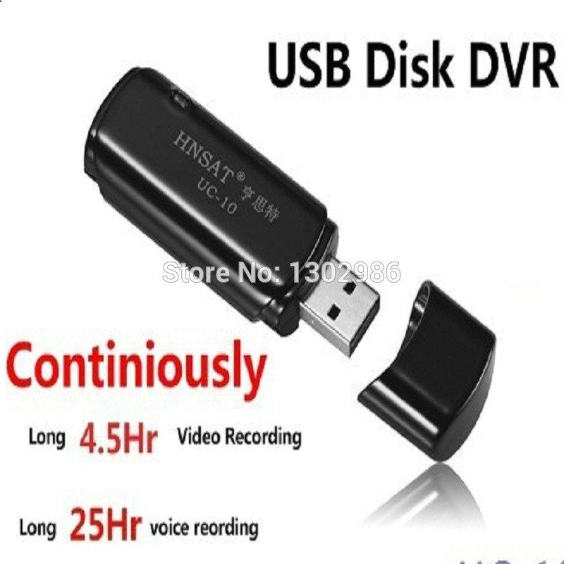 FreeShipping DVR UC10 USB Disk DVR Super Voice Recorder AudioVideo Recording (working 4.5 hours) 16GB