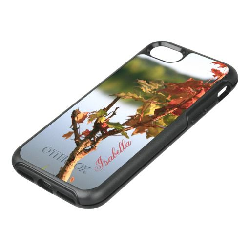 Personalize Serene Autumn Fall scenery tree lake OtterBox Symmetry iPhone 8/7 Case by #PLdesign #fall #autumn #leaves #fallscenery