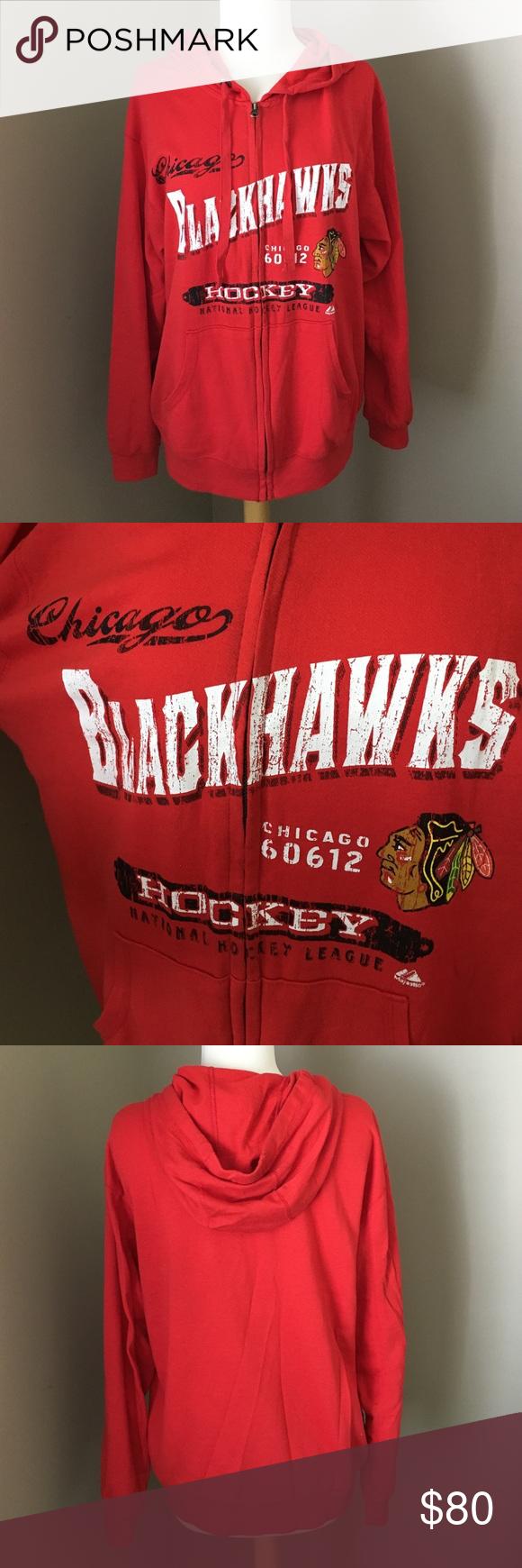 $125 Auth Majestic NHL Chicago Blackhawks Jacket