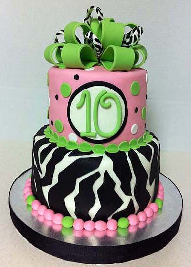 Cakes For Girls Th Birthday Happy Th Birthday Rs Th - 10th birthday cake
