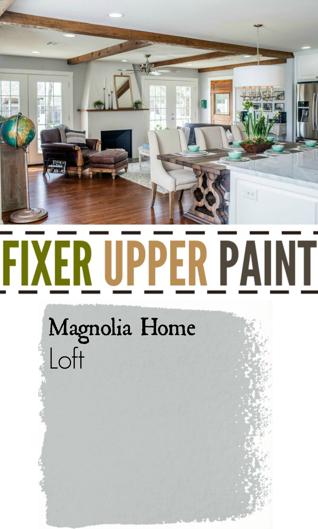 Fixer Upper Paint Color Loft The Best Silver Gray The