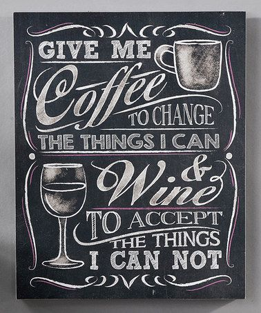 Loving this Chalk Talk Wall Plaque, Give Me Coffee on #zulily! #zulilyfinds