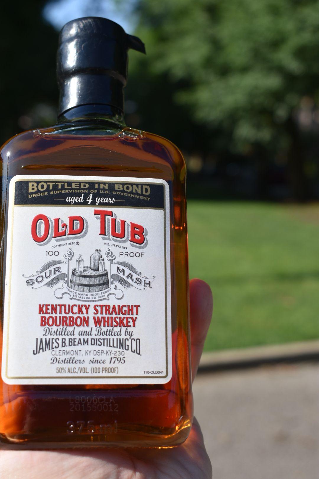 Old Tub 4 yr BiB by Jim Beam Bottle, Whiskey, Whiskey bottle