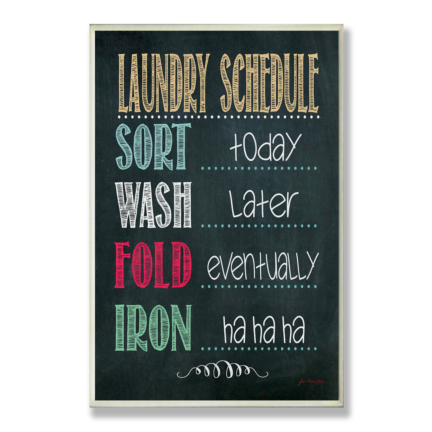 Laundry Wall Plaque Entrancing Stupell Industries Laundry Schedule Chalkboard Wall Plaque  Love Inspiration