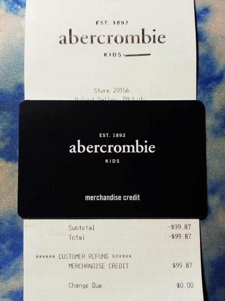 abercrombie kids credit card A