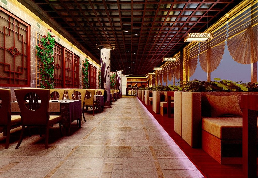 chinese style interiors aisle interior design interior design ideas of chinese restaurant room