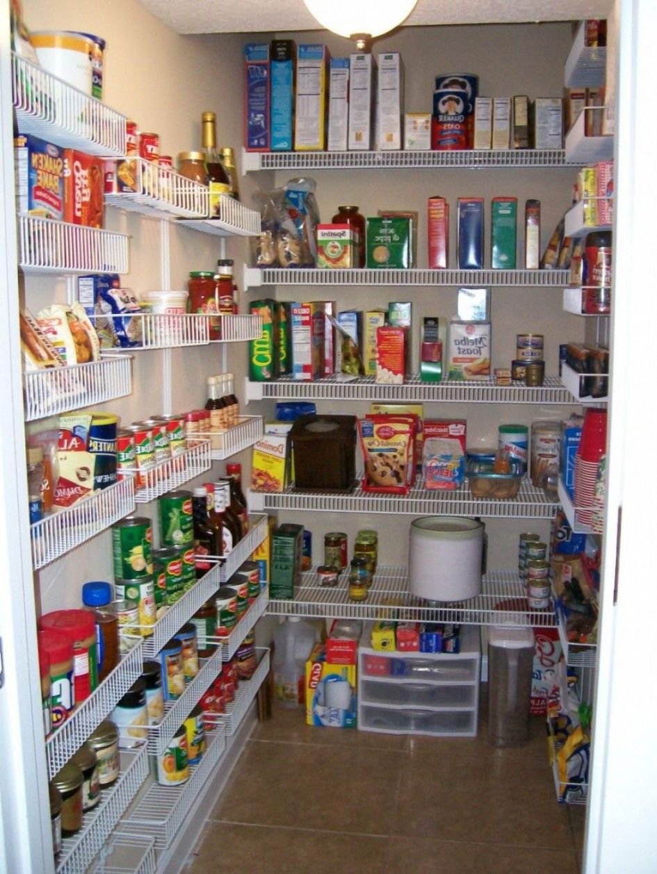 Gorgeous Walk In Pantry Shelving Units With Wall Mounted Wire