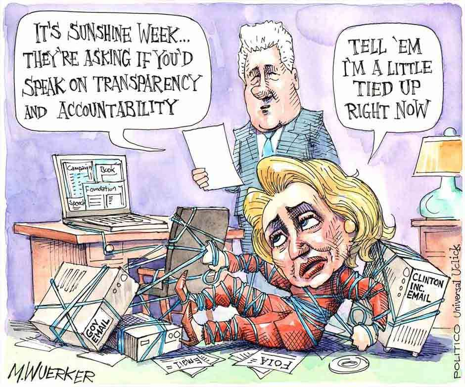 Image result for Cartoon US Elections Emails, Genitalia and the F.B.I.