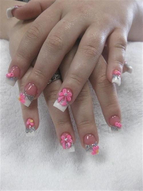 37 Cute 3d Nail Art Bows Nails Pinterest Nail Art Bows