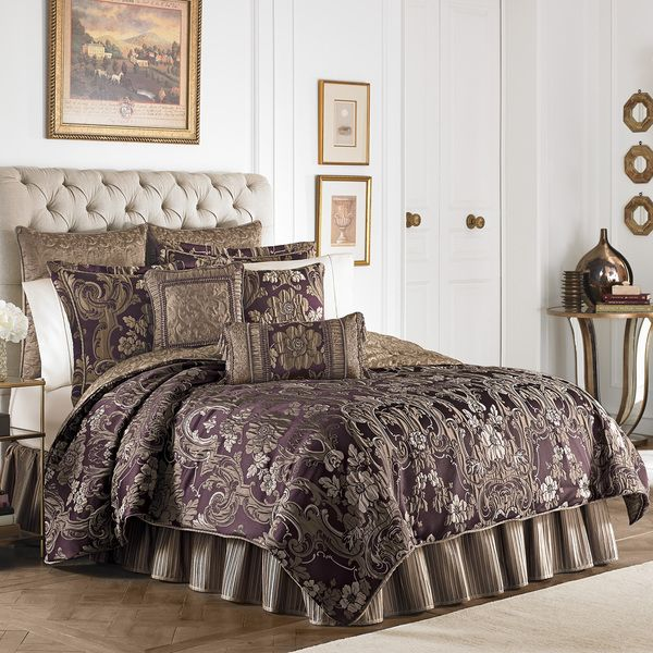 Croscill Everly Plum and Gold 4-piece Comforter Set $269 ...