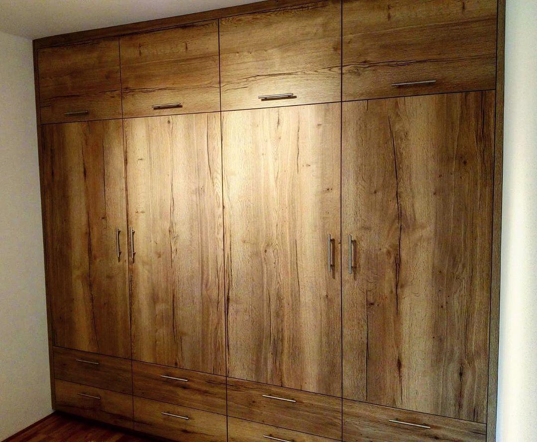 Einbauschrank Eiche Oak Geolt Lackiert Architektur Architektura Architecture Kleiderschrank Schrank Mobel Homestyle Interiordesign Wohnideen Resim