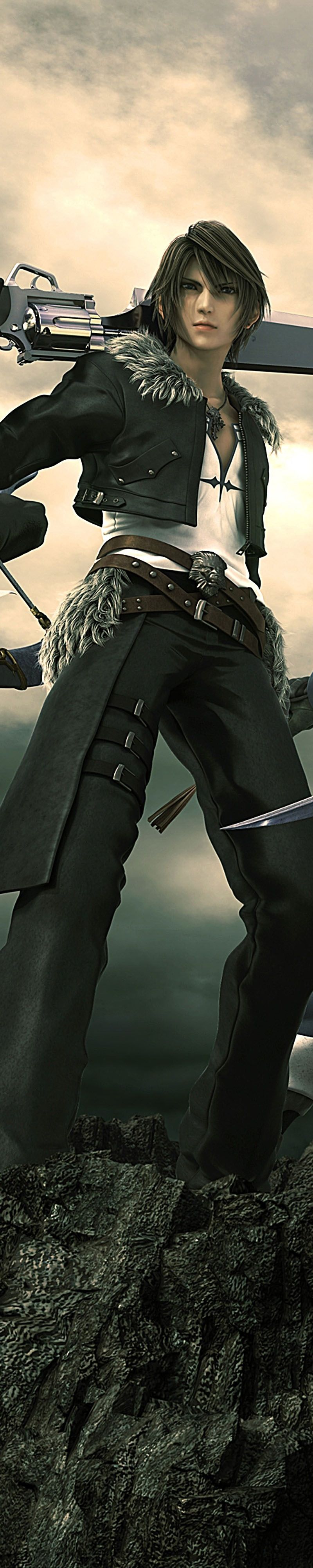 Squall Leonhart. Official poster. Final Fantasy Dissidia/Final Fantasy VIII.