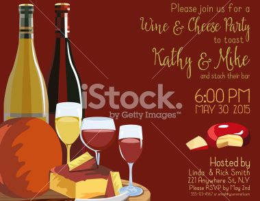 Wine And Cheese Party Invitation Template Royalty Free Stock Vector - Wine and cheese party invitation template free