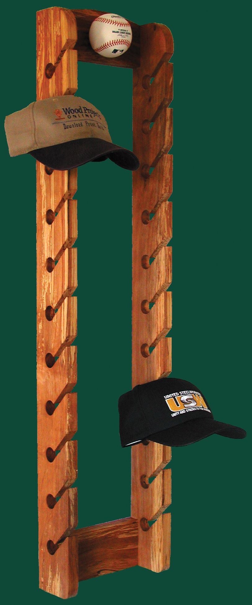White baseball caps for crafts - 15 Decorative Hat Rack Ideas You Will Ever Need