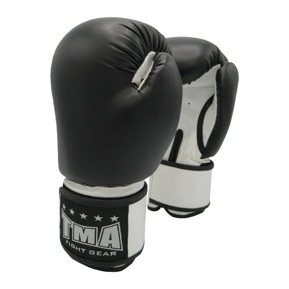 BULL LEATHER BOXING GLOVES MUAY THAI KICK BOXING SPARRING GLOVES GREAT DEAL