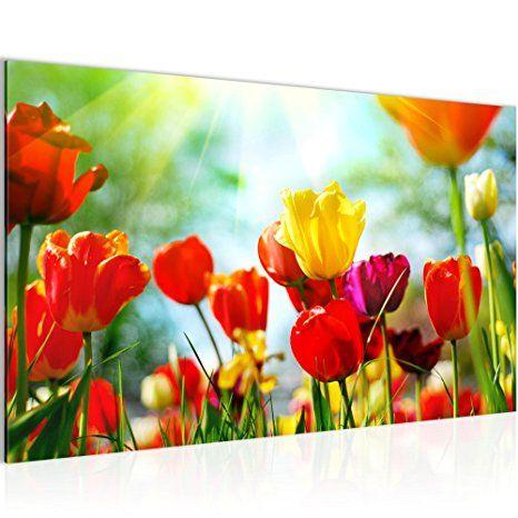 prestigeart Bilder Blumen Tulpen Wandbild Vlies - Bilder Blumen