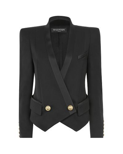 841471cf Balmain   Black Tuxedo Jacket   Lyst   Cool styles   Fashion ...