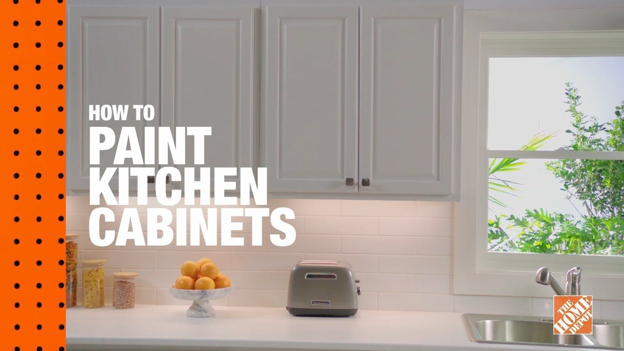 How To Paint Kitchen Cabinets Youtube Household Tricks