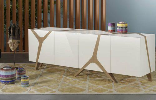 Credenza Moderna Rovere : Credenza moderna in legno les contemporains mangrove by m