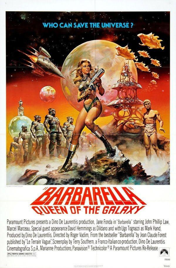 Barbarella poster 27x40 in jane fonda queen of the galaxy oop rare ...