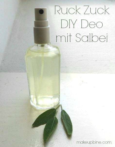 diy sommer kosmetik ruck zuck salbei deo zusammengebrautes pinterest cosmetics zero. Black Bedroom Furniture Sets. Home Design Ideas