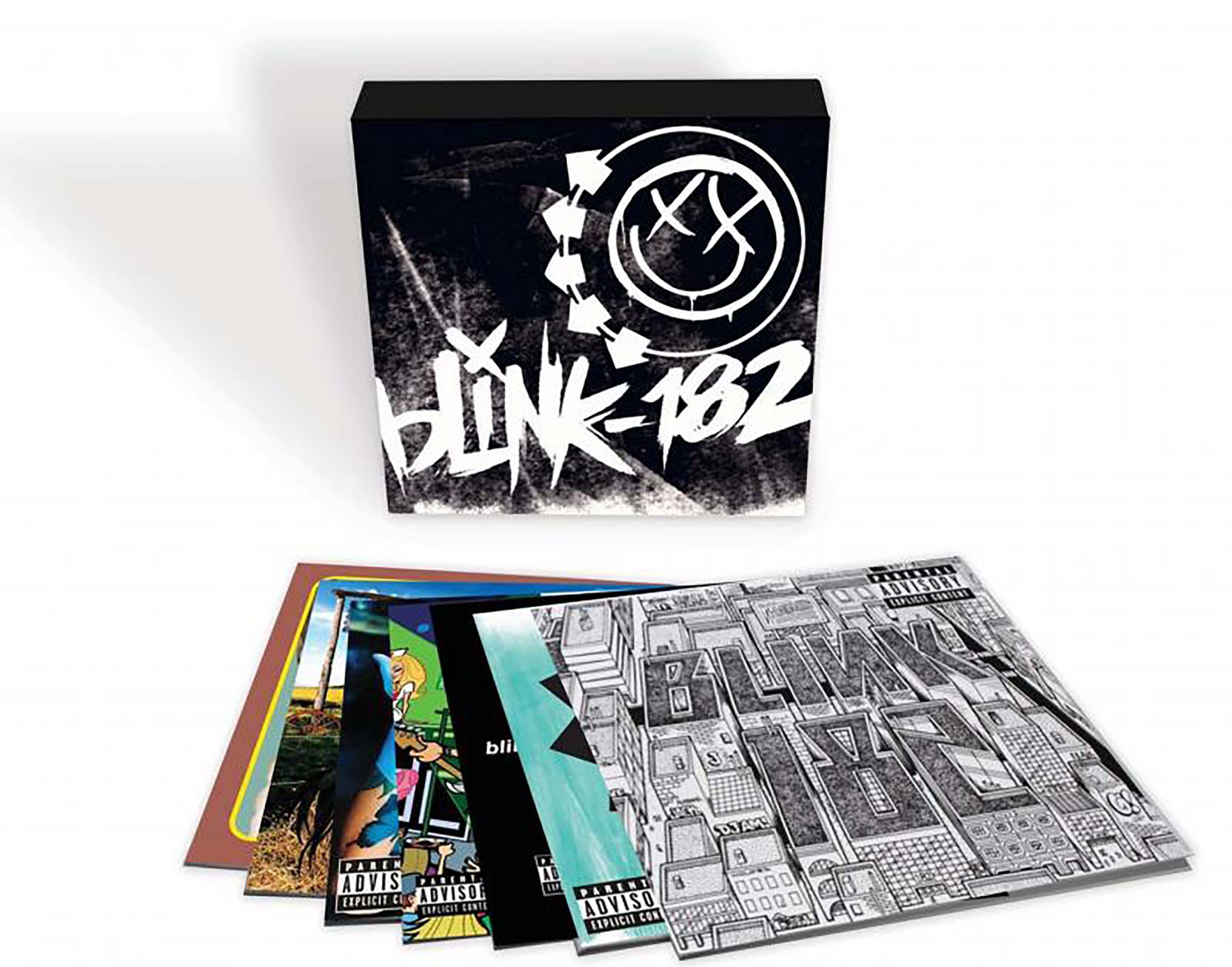 Blink 182 7 Lp Boxed Set 7lp Vinyl Box Containing The First Six Blink 182 Studio Albums As Well As The Live Album The Mark Tom And T Blink 182 Boxset Lp Box