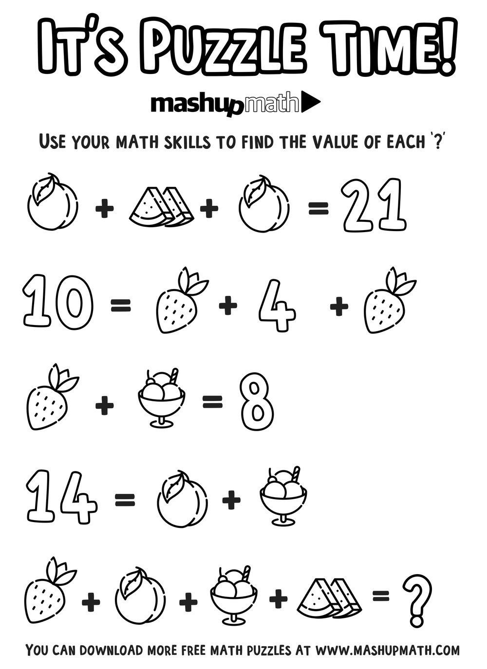 6th Grade Math Puzzles Worksheets Free Math Coloring Worksheets for 5th and  6th Grade — Mashup   Math challenge [ 1375 x 1000 Pixel ]