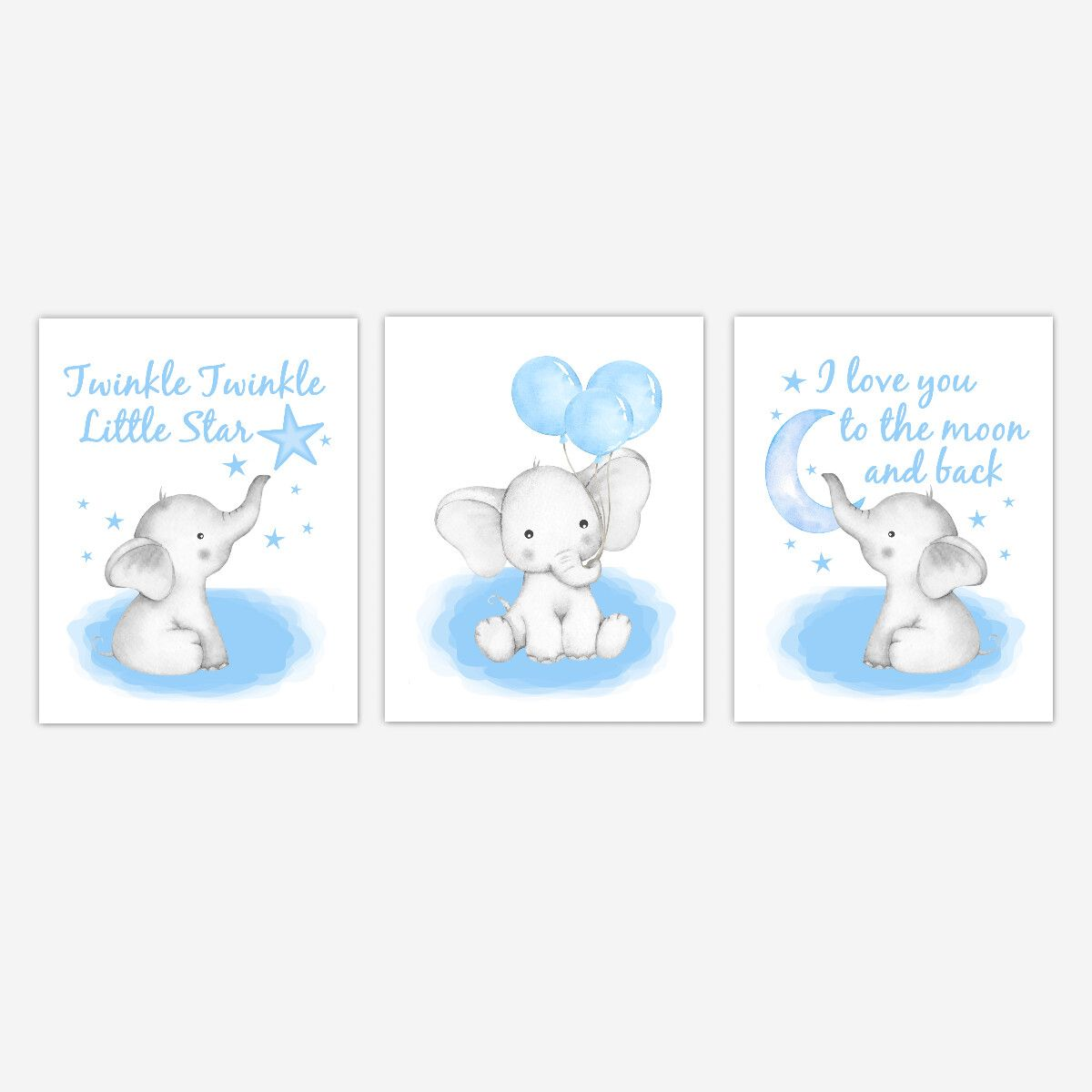 Balloons Baby Boy Nursery Art