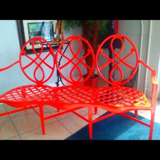 Groovy Powder Coated Bench Seat Powder Coating Powder Coating Spiritservingveterans Wood Chair Design Ideas Spiritservingveteransorg