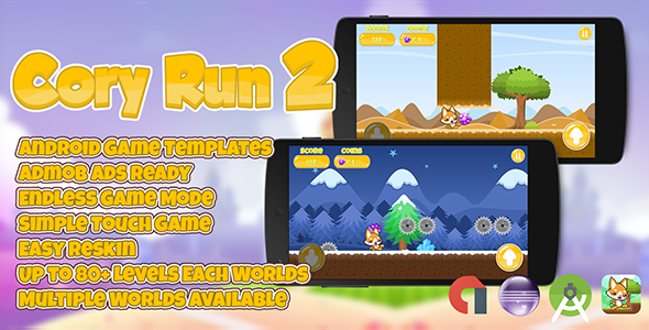 nice Cory Run two + Admob (Several Worlds) Uncomplicated Reskin (Games)