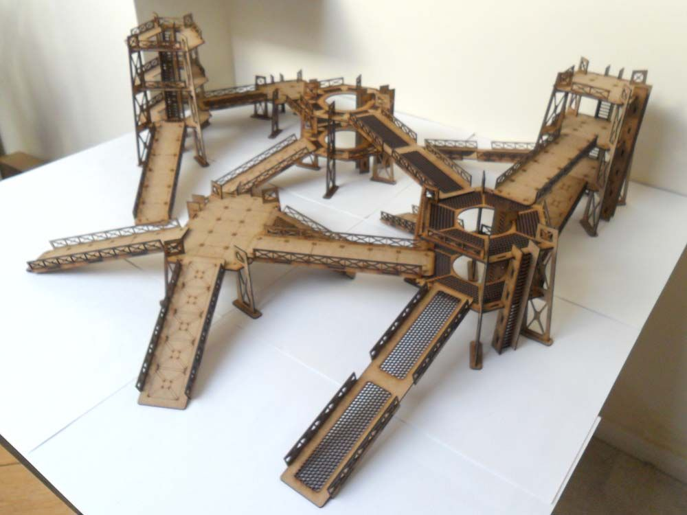 Wood Block Terrain Kit | Wooden Thing