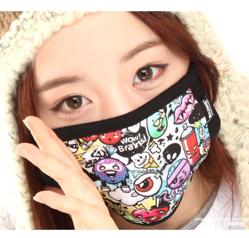 Run5 Snowboard Ski Riding Biker Flu Mouth Mask Muffle Punk Pop Emo Mask JMK06