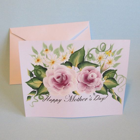 this beautiful mothers day card features a bouquet of hand