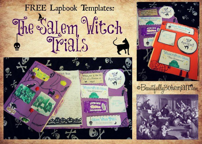 The Salem Witch Trial Free Lapbook Template Late Elementary Grade Bohemian Vegan Kitchen Lap Book College Essay On Trials